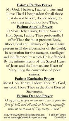 Pray this with your Rosary for October! religion, god, prayer chang, cathol faith, prayers, holi card, fatima prayer