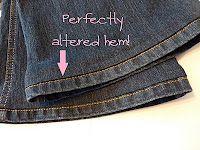 I love this method of hemming!  Never again will I break so many needles hemming jeans!