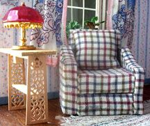 let's build a dollhouse sofa out of cardboard and fabric