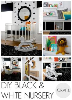 DIY black and white nursery - C.R.A.F.T.