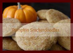 Pumpkin Spice: Pumpkin Snickerdoodles