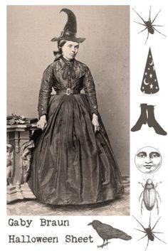 gaby cajubrasil: Free Halloween collage sheet