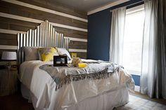corrugated tin headboard