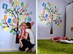 Spotted on a Polish blog: our ABC tree in action. ADORABLE photos!!! ^nk