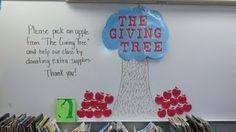 Giving tree for meet the teacher night.