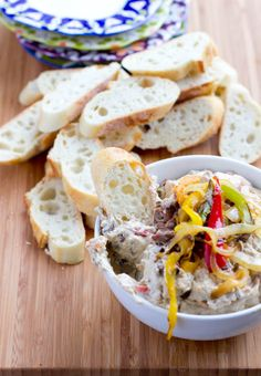 Fajita Steak Dip ohsweetbasil.com