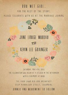 Rustic and Vintage Wedding Invitation