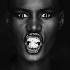 graces jones and harry winston.  photographed by gordon munro for interview, 1980s music, face, peopl, icon, grace jones, amaz grace, mis grace, black, photographi
