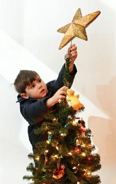 Eleni's son, doing the honors