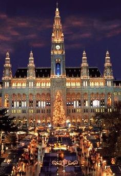 Kristkind Markt at the Rathaus Vienna, Austria.