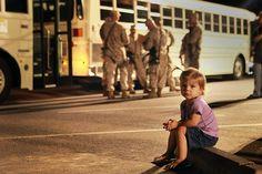 Don't Go, Daddy (U.S. Marine Corps photo by Cpl. William J. Jackson)