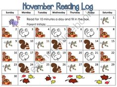Reading Logs 2014-15 from Lovin First Grade on TeachersNotebook.com -  (8 pages)  - Fun and exciting for students and parents to keep track of reading everyday of the month.