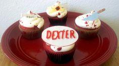 Dexter blood splatter cupcakes