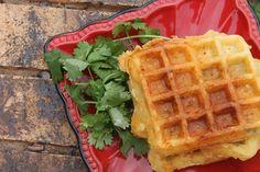 Hatch Chile Cornbread Waffles!!!