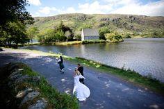 Cynthia and Chris on their wedding day at Gougane Barra, West Cork, Ireland #wedding #ireland #romantic #photography