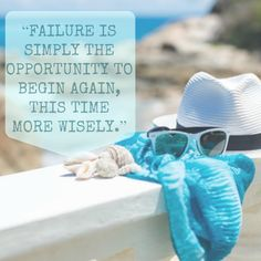 """""""Failure is simply the opportunity to begin again, this time more wisely""""!!  #quotes #sayings"""