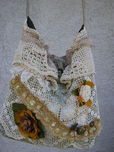 Vintage Doily Bag - inspiring idea