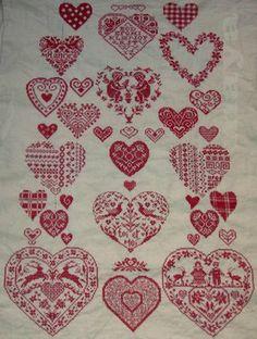 ~ Redwork Sampler ~/idea for bedspread