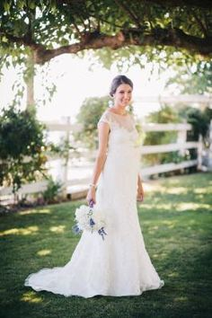 """""""I received so many compliments about how classy and unique this bridal gown was, rather than your typical strapless dress."""" DB Reviewer BRIDE6113 wearing Galina Signature Wedding Dress Style SWG561"""