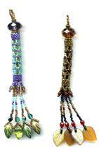 Beaded Tassel Earrings Pattern by Sigrid Wynne-Evans at Bead-Patterns.com