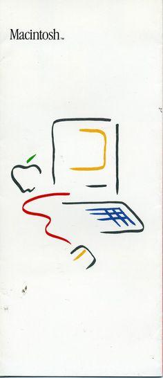 Vintage 1984 Brochure Macintosh Setup