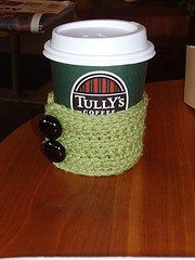 Coffee cozy pattern (free)