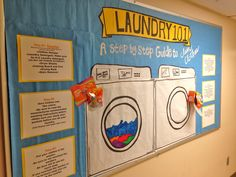 Laundry 101 Bulletin Board.