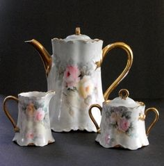 Haviland Porcelain Coffee Pot Hutschenreuther by lakesidecottage, $150.00