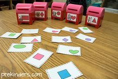 Mailbox Math: sort the shapes into the mailboxes -- includes a counting set, too!