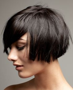 ive been so into texture these last two years, i'm aching to go for a blunt bob just to see... layered hairstyles, short blunt haircut, bob blunt hair, short hairstyles, short cuts, bob hairstyles, girl hairstyles, short bobs, bob haircuts