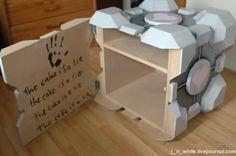 Portal Companion Cube Cabinet