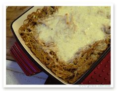 Trim Healthy Mama Spaghetti Pie