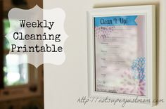 Clean It Up! A Weekly Cleaning Schedule and printable