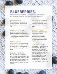 The amazing health benefits of blueberries!