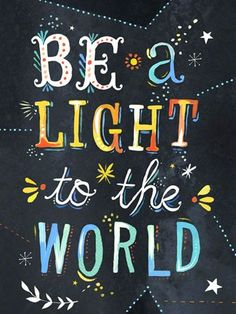 Be a Light to the World Inspirational Canvas Art by Katie Daisy 18x24 $119 (Presidents Day Sale - 20% off thru 2/19)