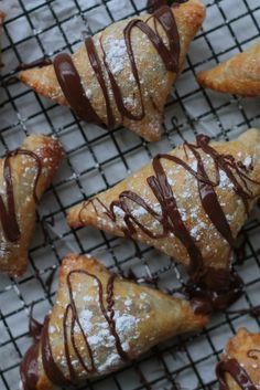 turnover recipes, chees turnov, cream cheese dessert, nutella cream cheese turnovers, puff pastries, peanut butter, nutella turnover, cream cheeses, treat