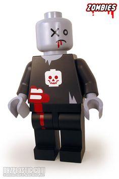 inspir art, stuff, lego dude, legos, zombi lego, lego zombi, zombies, kid, andrew bell