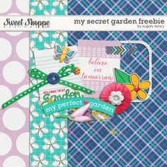 Quality DigiScrap Freebies: My Secret Garden mini kit freebie from Sugary Fancy