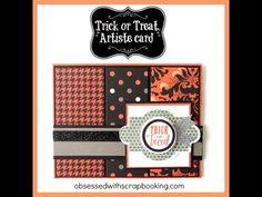 CTMH Artiste Cricut Halloween Card - YouTube