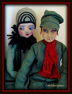deco etta pierrette and french smoker boudoir doll