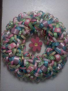 Baby Girl Ribbon Wreath