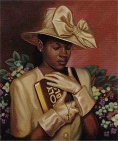 African American Paintings Of Women | Black Art - Religious Prints