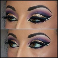 Egyptian Eye Makeup - Would go great with my Cleopatra Halloween Costume