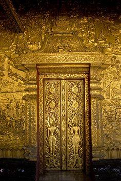 Gold Doors - Laos