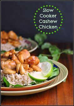 Slow Cooker Cashew Chicken# slow cooker healthy recipes