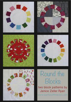 Round The Blocks quilting pattern