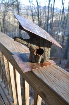 Unique log birdhouse