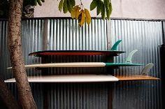 Sleek board storage