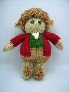 Bilbo Baggins, Burglar, a hand knit Hobbit, Middle Earth collection