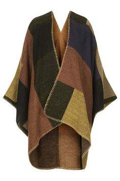 Blanket Stitch Cape